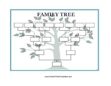 Blank Family Tree Chart Template Page 1