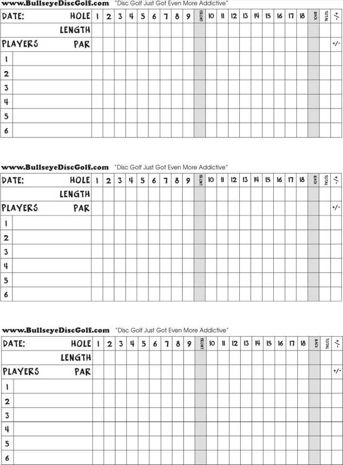 photo regarding Disc Golf Scorecard Printable known as Obtain Blank Golfing Ranking Card for No cost - TidyTemplates