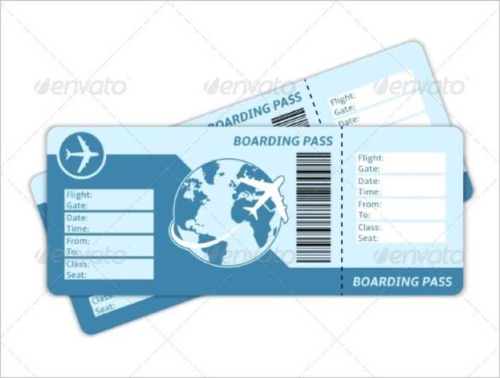 Blank Plane Ticket to Print Page 1