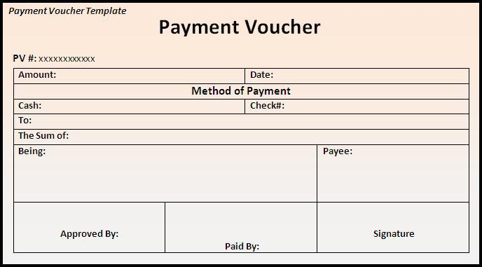 Blank Standard Voucher Pdf Format Free Template Page 1
