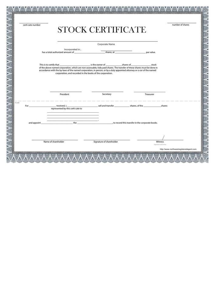 download blank stock certificate template free download. Black Bedroom Furniture Sets. Home Design Ideas