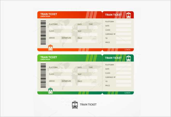 Blank Train Ticket Vector Format Page 1