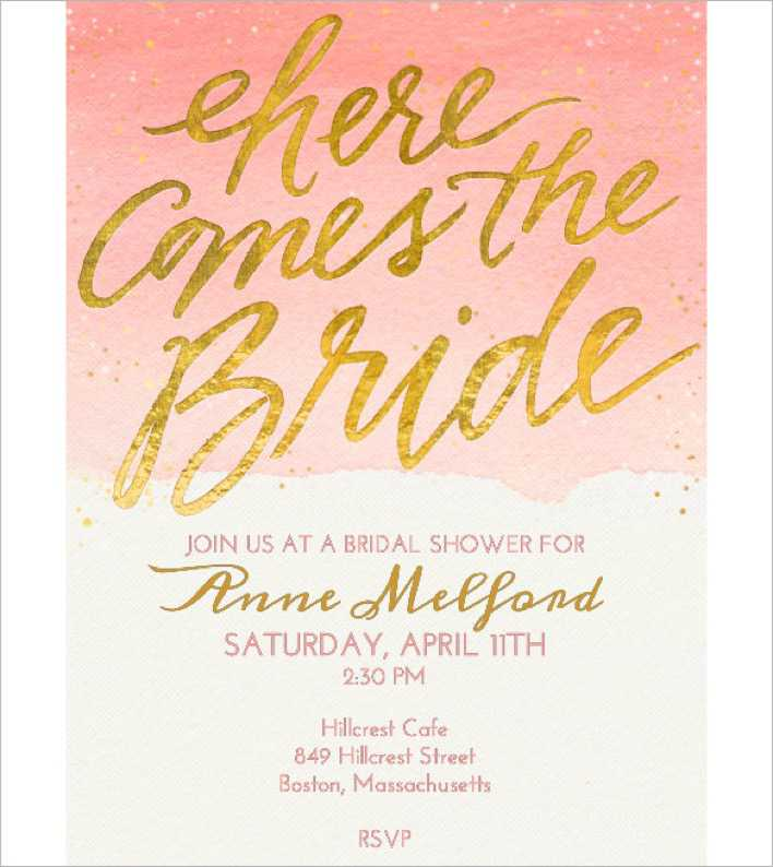 Bridal Shower Free Online Invitation Template Online Page 1
