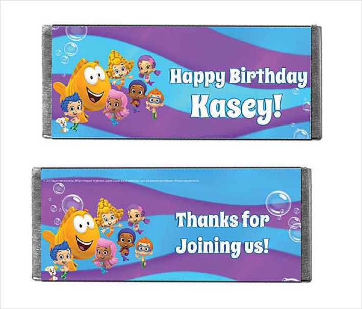 Bubble Guppies Time to Play Candy Bars Wrapper Template Page 1