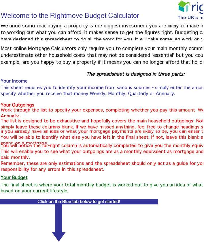 download budget calculator for free tidytemplates