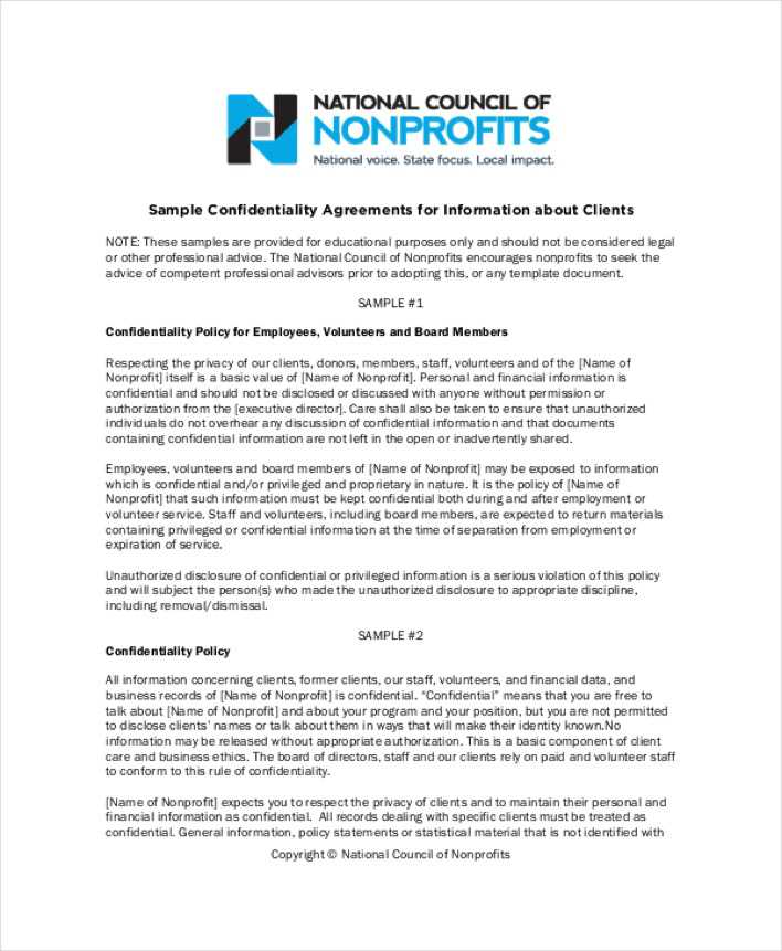 Download Business Generic Confidentiality Agreement For Free