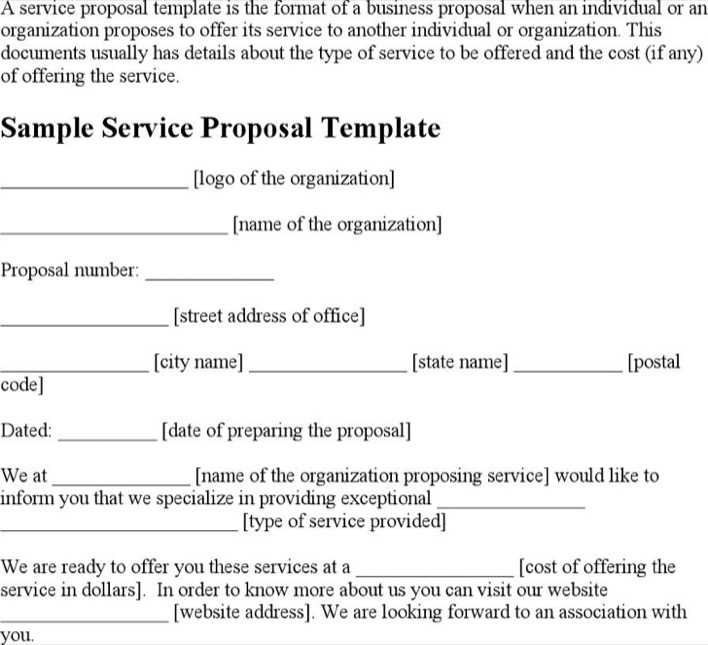 Download business service proposal template for free tidytemplates business service proposal template page 1 friedricerecipe Gallery