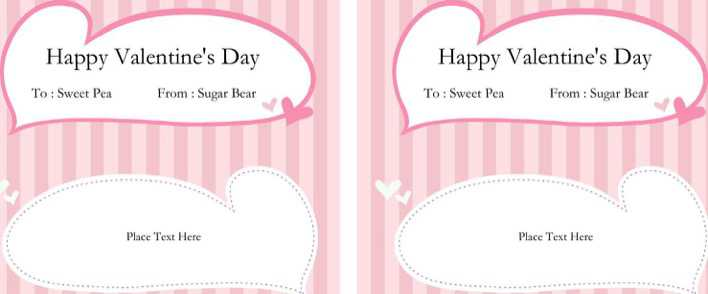 Candy Bar Wrapper Template for Word Page 1