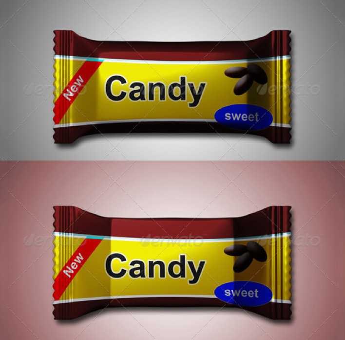 Candy Wrapper MockUp Photoshop Page 1