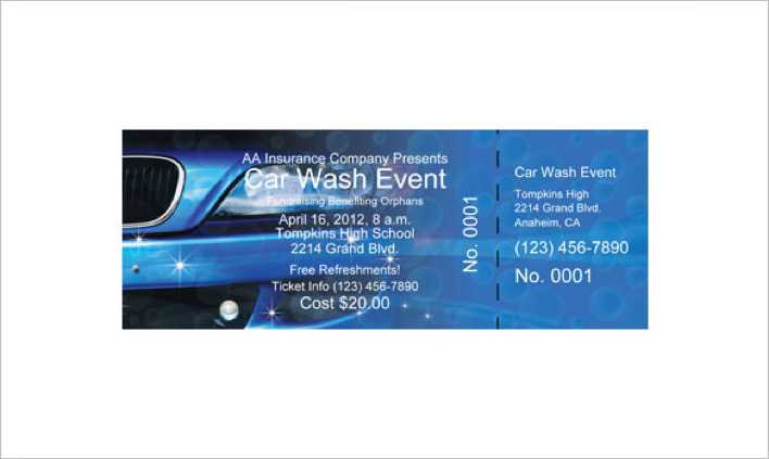 Car Wash Event Ticket Print Online Page 1