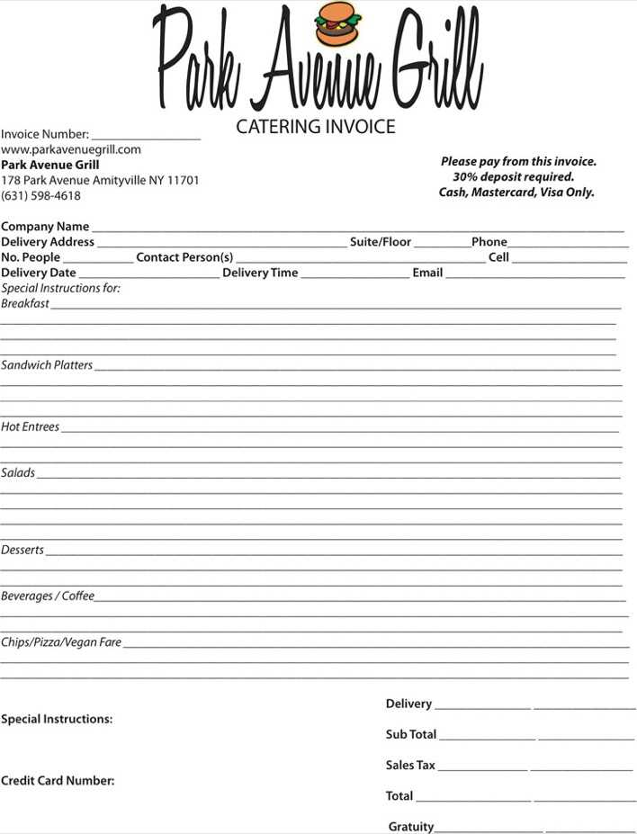 Catering Invoice Template | Download Catering Invoice Template 4 For Free Tidytemplates