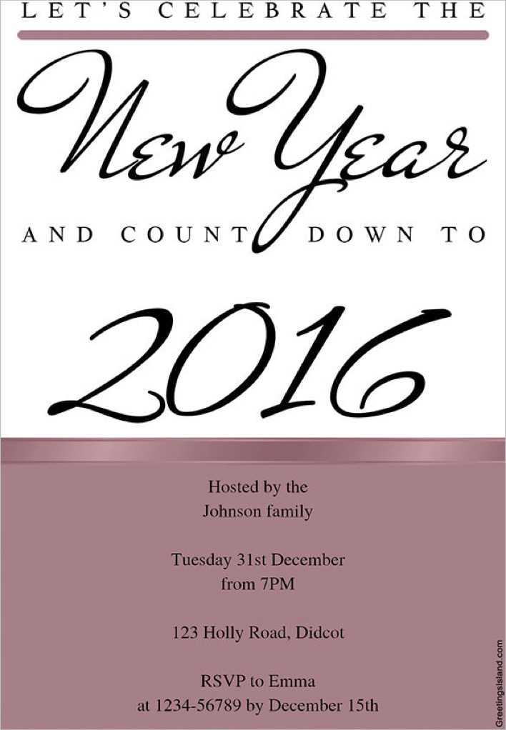 Celebrate The New Year Invitation Template Download Page 1