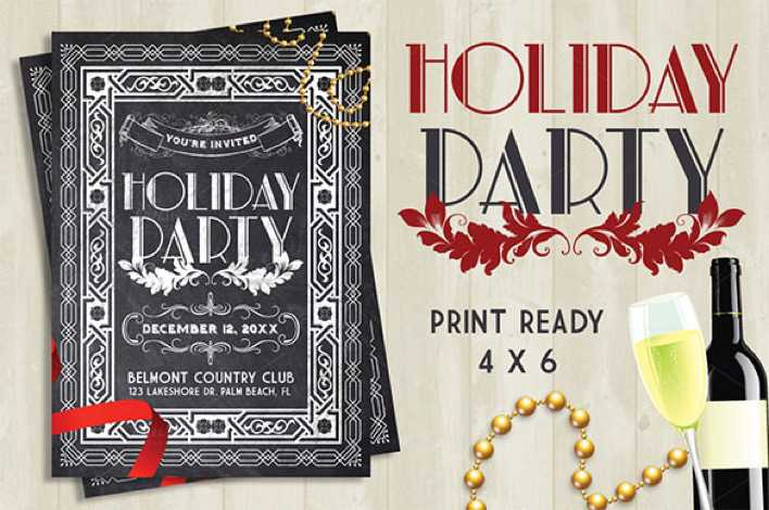 Chalkboard Holiday Party Flyer - $8 Page 1