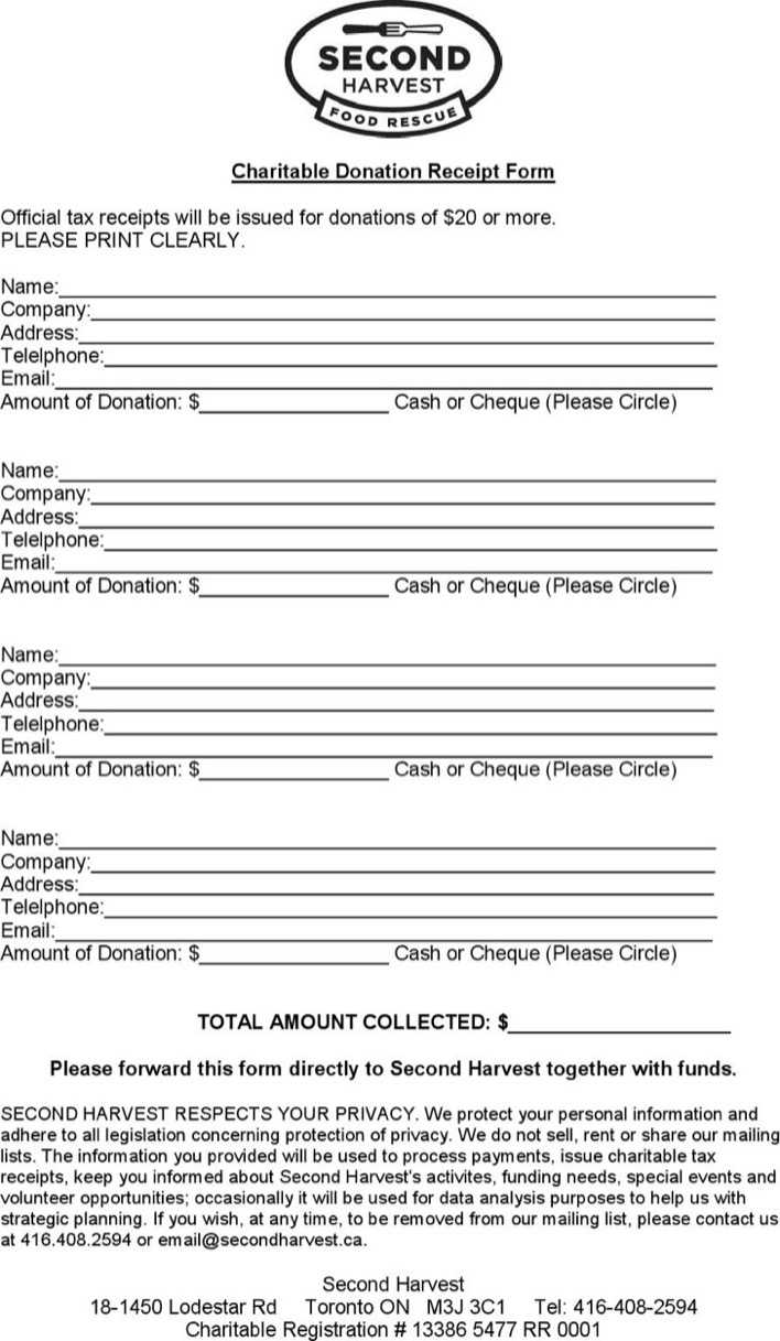 download charitable donation receipt form for free tidytemplates