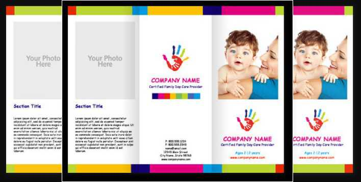 Child Care Cute Brochure Template Page 1