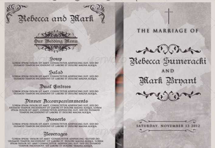 Christian Wedding Program Template For Download Page 1