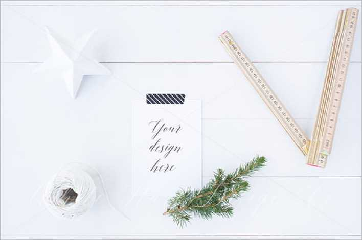 Christmas A6 Stationery Mock up Download Page 1