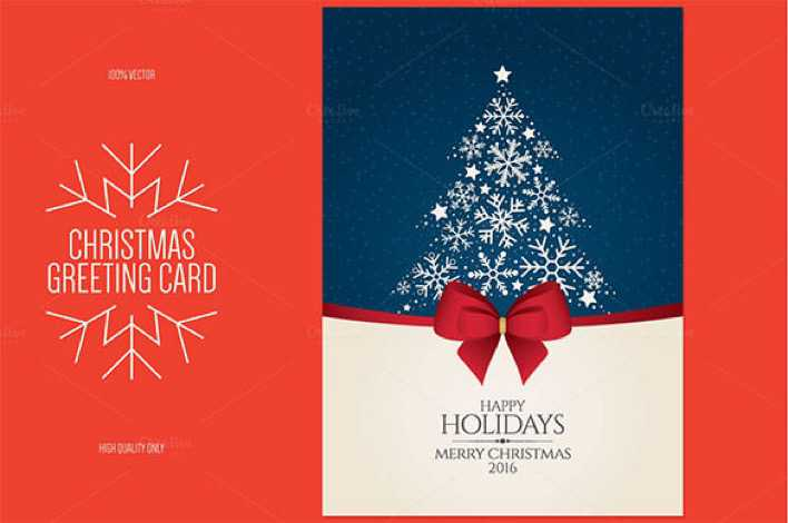Christmas and New Year Greeting Card Template EPS Format Page 1