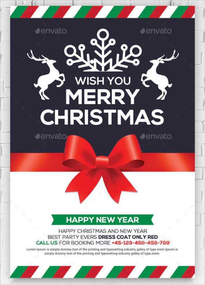 Christmas and New Year Greeting Card Template PSD Design Page 1