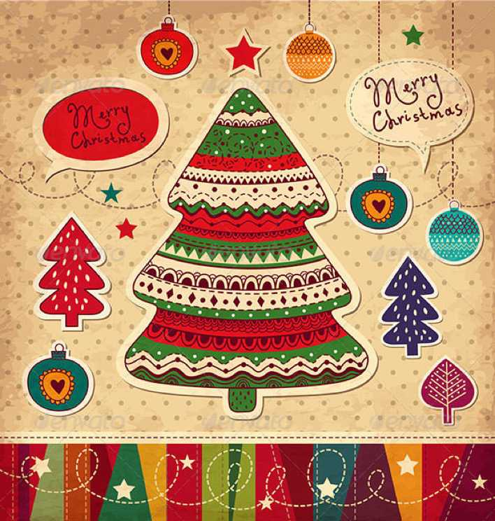 Christmas Card with Christmas Trees Vector EPS Download Page 1