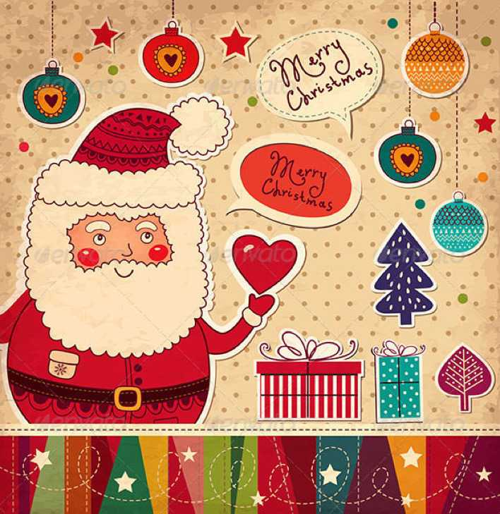 Christmas Card with Funny Santa Claus EPS Download Page 1