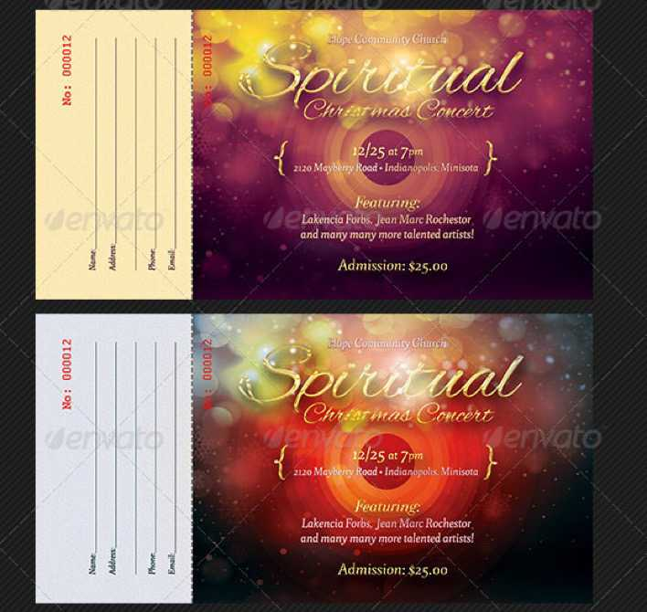 Christmas Concert Ticket Design Download Page 1