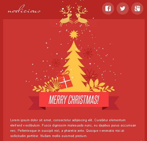 Christmas E-Commerce Responsive Email Template Css Format Download Page 1
