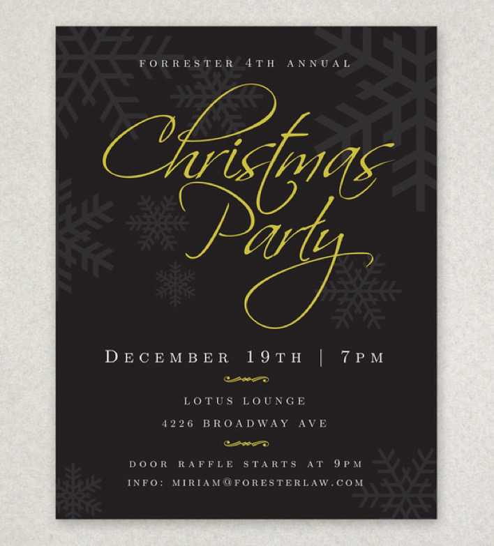 Christmas Holiday Party Flyer Template Page 1
