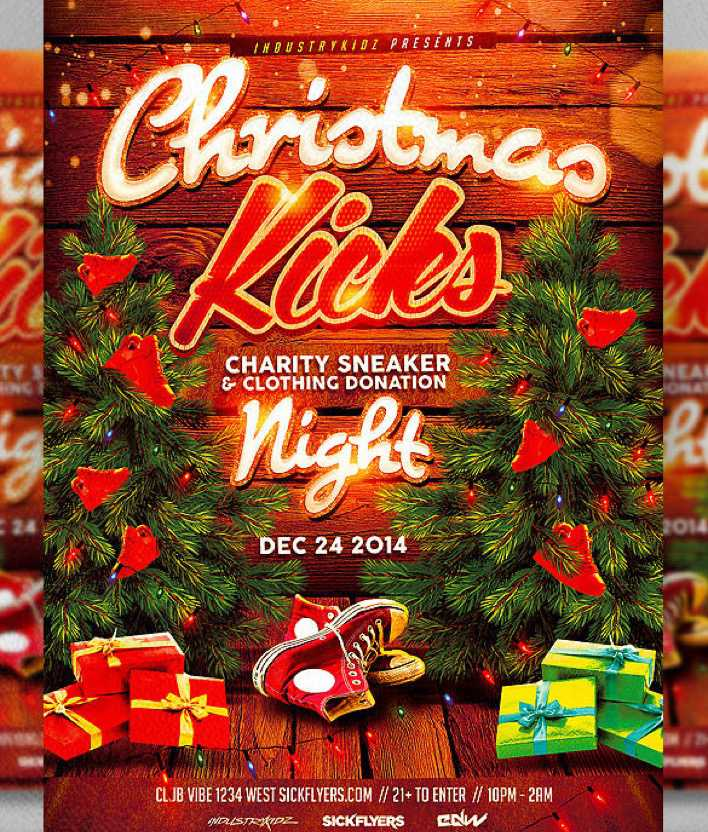 Christmas Kicks Flyer Template PSD Design Format Page 1