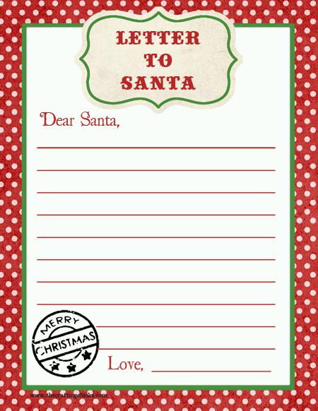 Christmas Letter Template For Kids Download Page 1