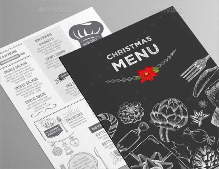 Christmas Menu for Restaurant Template Page 1