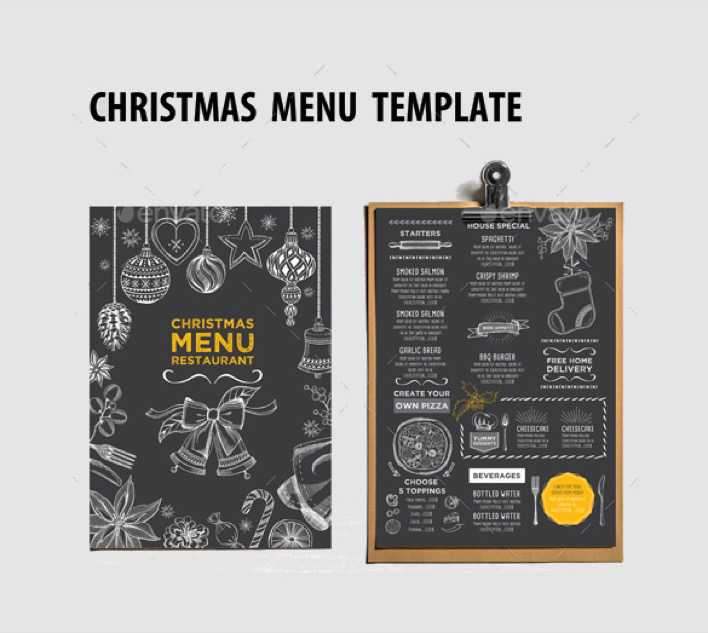 Christmas Menu for Restaurant Template Download Page 1