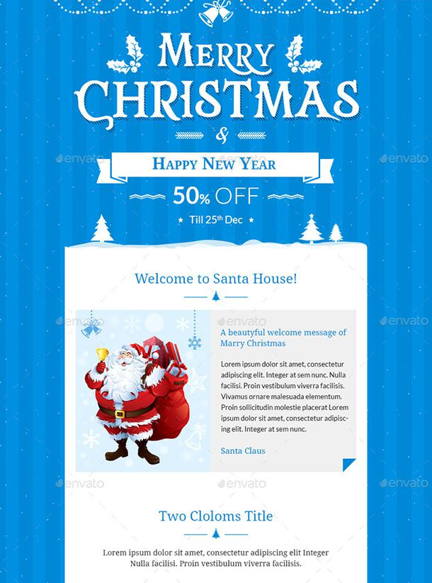 Christmas Offers E-Commerce E-Newsletter Photoshop Psd Template Page 1