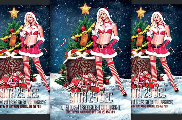 Christmas Sexy Flyer Template Doc File Download Page 1