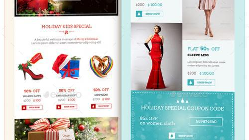 Christmas Shopping Offers E-Commerce Newsletter Psd Format Page 1