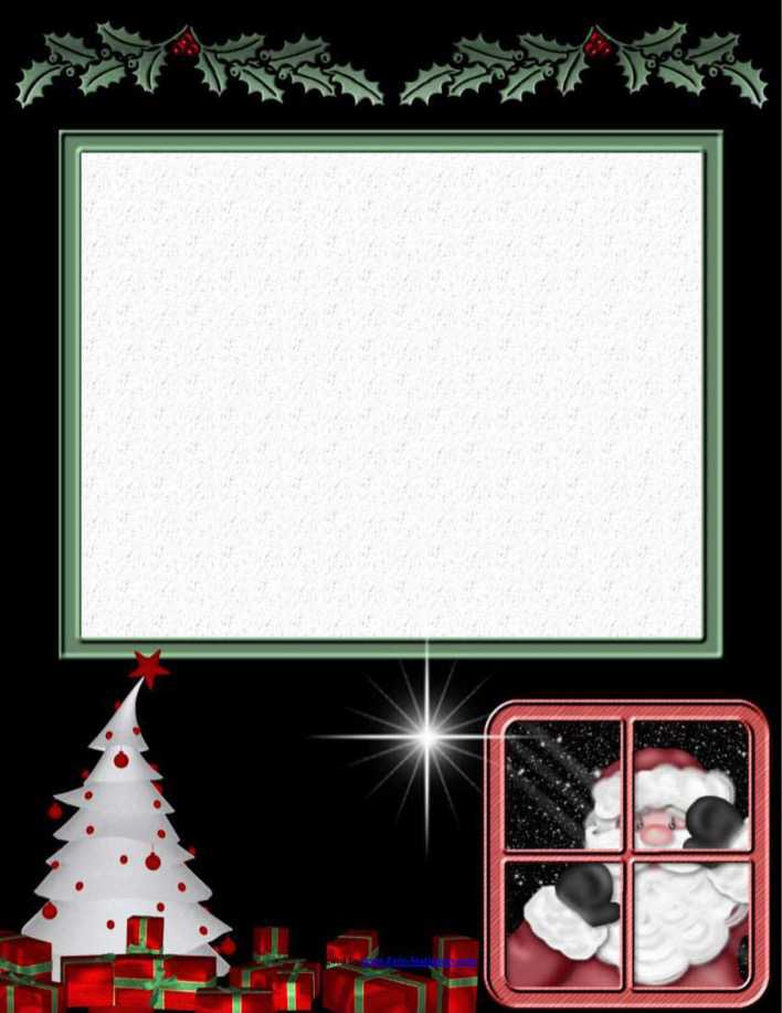 Christmas Stationary Download Printable Papers Page 1