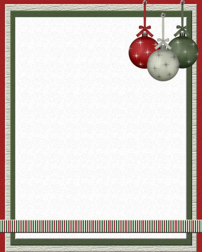 Christmas Stationery Template Papers Download Page 1