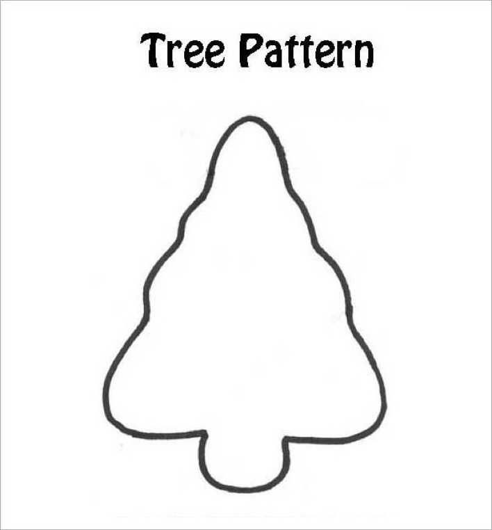 Christmas Tree Craft Pattern Download Page 1