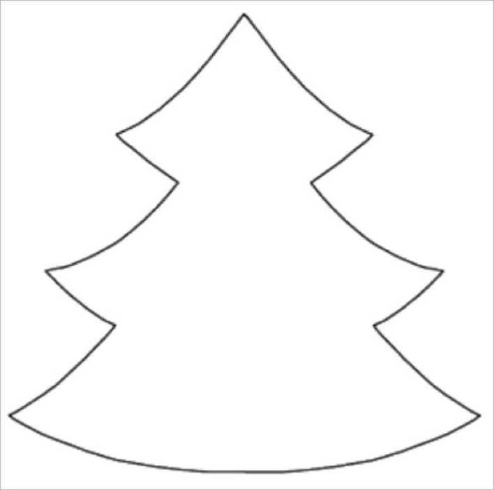 Christmas Tree Template for Coloring Page 1