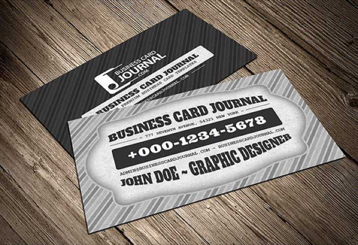 Download Classic Black White Retro Business Card Template For Free