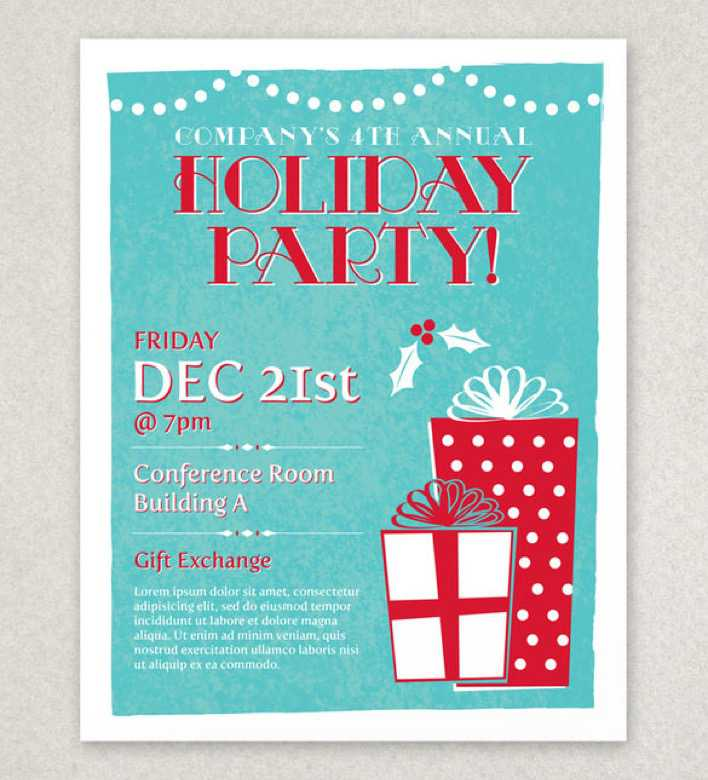 Classic Holiday Party Flyer Template Page 1