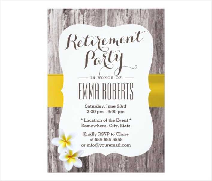 download classy background retirement party invitation for