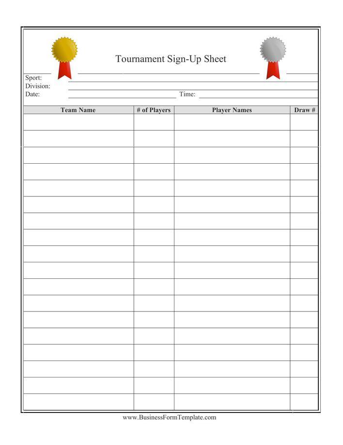 sign up sheet form