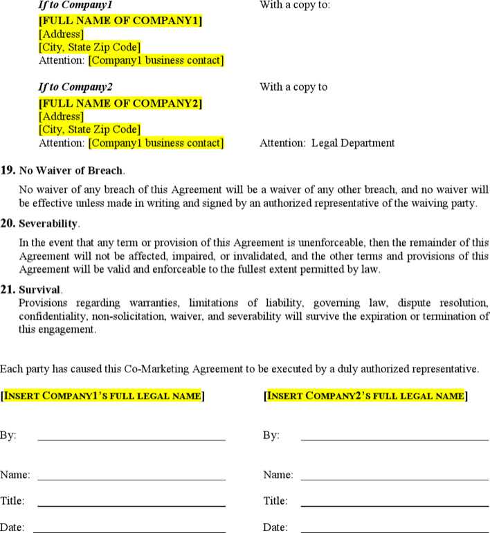 Download CO - Marketing Agreement Template for Free | Page 5 ...