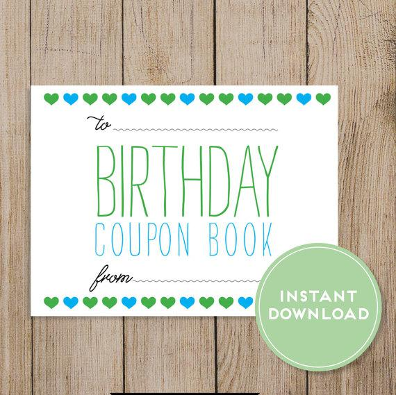 Colorful Birthday Coupon Book Template Download Page 1