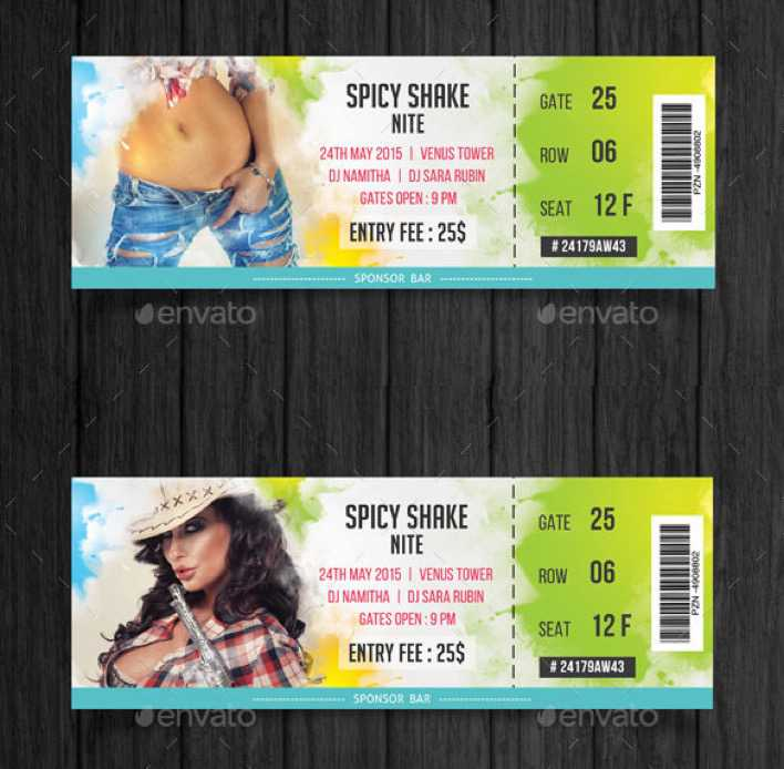 Colorful Unique Event Tickets Template Download Page 1