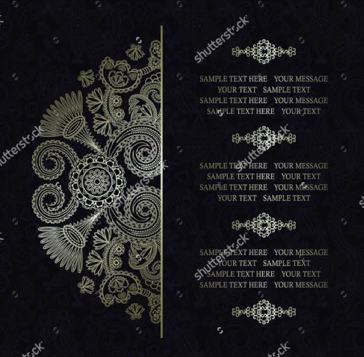Colorfuly Designed Wedding Invitation Template For Download Page 1