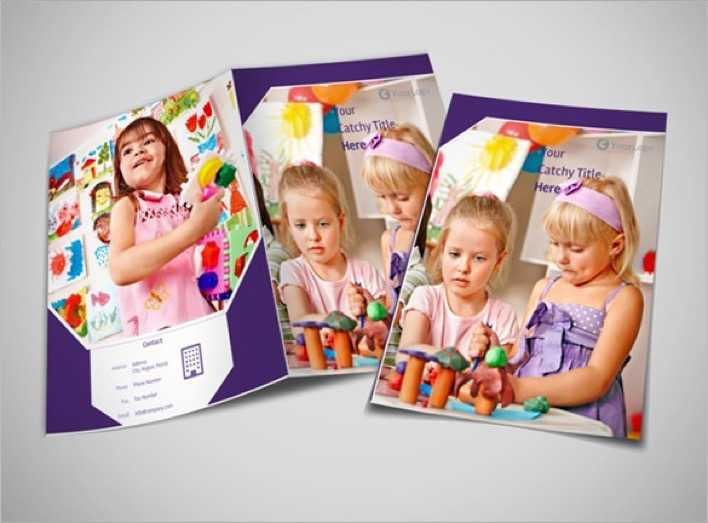 Colourful Child Care Brochure Template Page 1