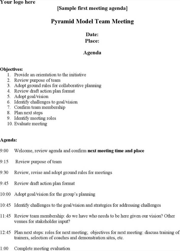 download committee meeting agenda template for staff coaching sample for free