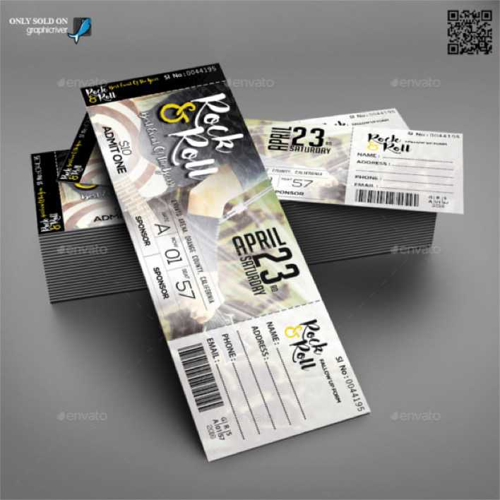 Concert & Event Tickets Template PSD Format Page 1